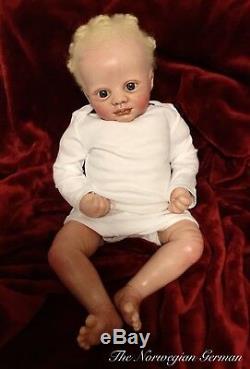 Precious OOAK African Albino Black Baby Doll Reborn Art Doll Collector