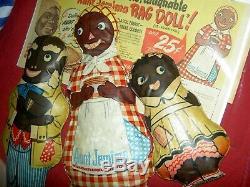 RARE Blackamoore, Nubian dark brown, antique 1890s bisque shoulderhead male doll