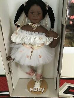 Rare 28 Jasmine Gadco Rotraut Schrott Black Ballerina Doll Nib Coa Ship Intl