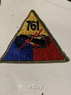 Rare African American WW2 761st TANK BATTALION PATCH OFF UNIFORM Black Panthers