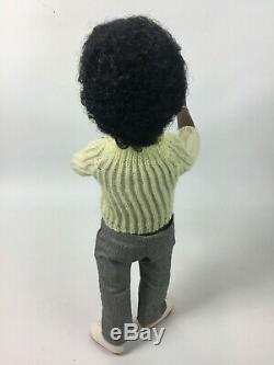 Rare Dark Skin Black Sasha Caleb 318 Doll Sweater & Pants Trendon England 16 in