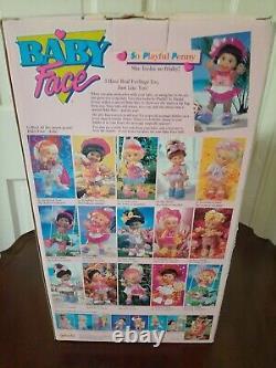 Rare! Galoob 1990 Baby Face So Playful Penny Black African American (nib)