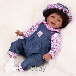 Real Baby Dolls Black Girls Soft Body Reborn Toddler Girl African American Dolls