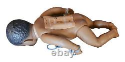 Real Care 3 Baby Think it Over Doll African American Black Boy Male