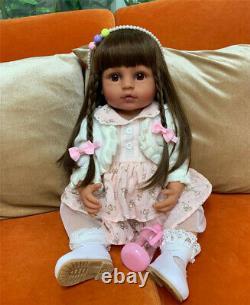 Reborn Baby Dolls Twins Black Reborn African American Dolls Full Body Silicone