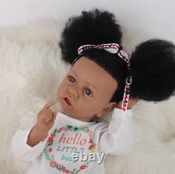 Reborn Dolls, 22'' African American Reborn Baby Doll Silicone Full Body Black US