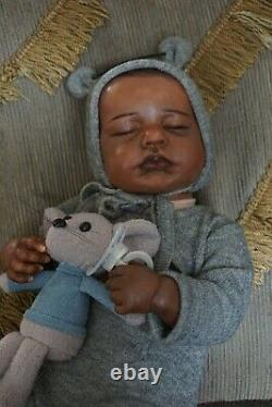 Reborn baby dolls boy black