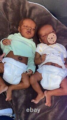 Reborn baby ethnic twins black babies twin a twin b preemie babies with bellies
