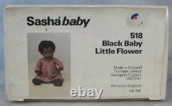 Sasha Baby doll 518 Black Baby Little Flower NRFB England 1985 African American