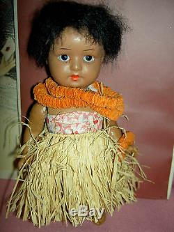 South Seas Baby (labeled) antique German, brown bisque j'td doll with glass eyes