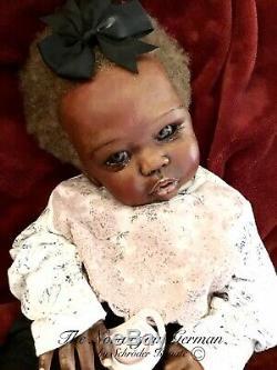 Stunning OOAK Reborn Art Doll Eleanor Anne Sculpt COA Black African