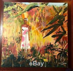 TROPICAL Art Painting BEAUTIFUL Black African American Woman CARIBBEAN ISLAND