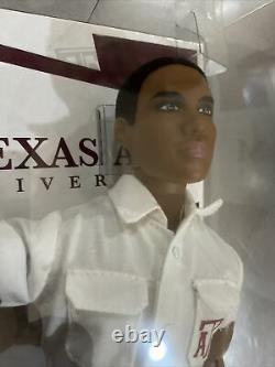 Texas A & M University Cheerleader Barbie Ken Doll Black AA AFRICAN AMERICAN tw