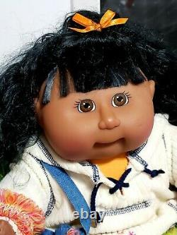 Toys R Us Cabbage Patch girl doll black cornsilk hair 2001 K-5 1st Edition New
