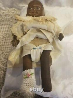 Two Antique Vintage African American Black Dolls RARE
