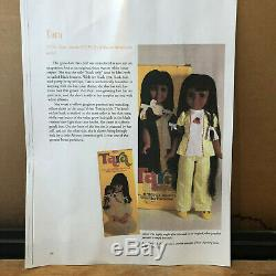 VINTAGE 1976 IDEAL 16 BLACK/AA CRISSY DOLL TARA in ORIGINAL OUTFIT