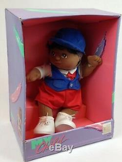 VINTAGE 1985 Mattel My Child Doll African American/Black #2517 NIB