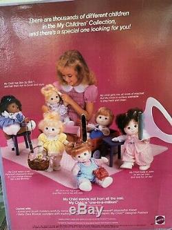 VINTAGE 1985 Mattel My Child Doll African American/Black BOY SAILOR In Box