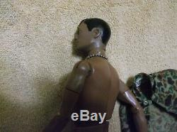 VINTAGE BLACK 1966 GI Joe AFRICAN AMERICAN HASBRO MARINE ACTION FIGURE RARE