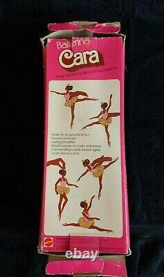 VINTAGE Ballerina Cara Black African American Barbie Doll 1975 Mattel Rare- WOW