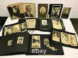 VTG 162 PHOTOS BLACK AFRICAN AMERICAN ALBUM 1920s-1950s NAMES Military BAPTIST