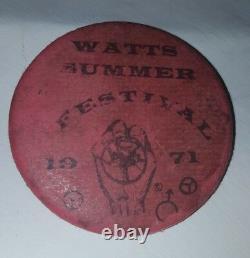 Vintage 1971 Watts Summer Festival Button Pin Black Pride African American La Ca