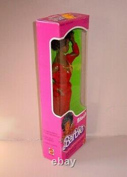 Vintage 1979 FIRST Black Barbie Doll Afro Red Dress Mattel NRFB