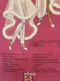 Vintage 1981 Pink & Pretty Christie Barbie Mattel 3555 AA Black Doll NIB