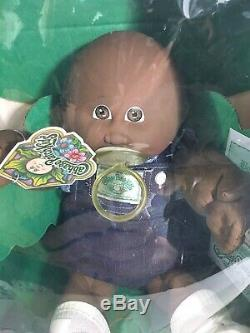 Vintage 1985 Original Cabbage Patch Black Doll In BOX with Birth Certificate