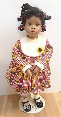 Vintage 1996 Donna Rubert, K. Amicon Flossie Black Porcelain Doll Custom 25