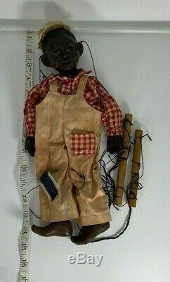 Vintage African American Boy Marionette Black Americana Lucifer Virginia Austin