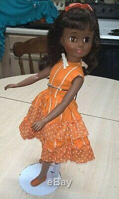 Vintage Alexander 1965 17 RARE Black African American Polly doll Beautiful