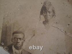 Vintage Antique African American Black History Artistic Art Rppc Wedding Photo