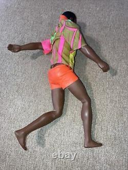 Vintage Bend Leg Talking Brad Doll 1969 Mattel Hong Kong Black Molded Hair RARE