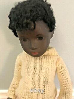 Vintage Black African American Boy Caleb Sasha Doll 16 Sweater & Pants