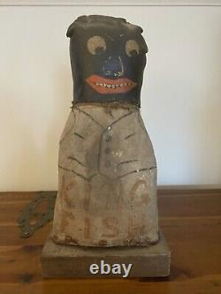 Vintage Black African American Folk Art Carnival Knockdowns Cat Punk Doublesided