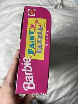 Vintage Black Barbie 90s Paint and Dazzle Barbie 1990s NEW