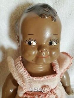 Vintage Black Scootles doll composition 1930, s sweet Kewpie