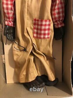 Vintage Clippo Virginia Austin Lucifer Marionette Puppet Black Americana 1930s