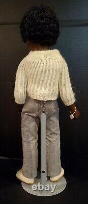 Vintage Dark African American Black Boy Sasha Caleb Doll Original Clothing
