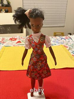 Vintage HTF Marx Black American Gayle Doll Sindy's Friend With Outfit & Stand