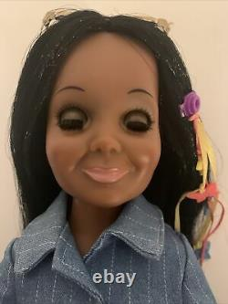 Vintage Ideal Black African American OOAK Tressy AA Crissy Grow Hair Doll 70's