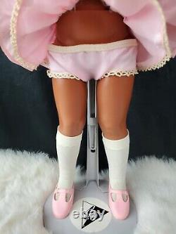 Vintage Ideal Black African American Pink Velvet AA Crissy Grow Hair Doll 70s