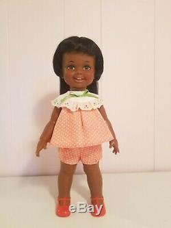Vintage Ideal Crissy Family 1972 Black African American Baby Cinnamon 12 Doll
