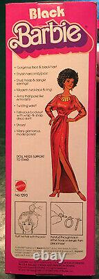 Vintage Mattel 1979 FIRST Black Barbie Doll Red Dress Mattel #1293 NIOB