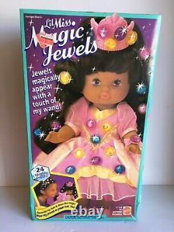 Vintage Mattel Little Lil Miss Magic Jewels African American Black Hair Doll