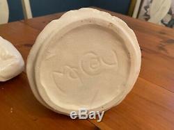 Vintage McCoy Clay Pottery Cookie Jar, African American Art 1940s