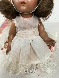 Vintage Vogue African American Black Ginny Doll In Zipper Series Party Outfit