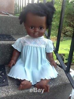 VtG 1972 Ideal Baby Crissy LifeSize 24 African American Black Baby Doll RARE