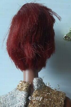 Vtg 1966 Mattel Black Barbie Doll Twist/Turn African American Lara's Mink Japan